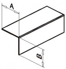 Крепёжный профиль Г-образный оцинк.1,2мм, 40*40
