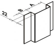 Крепёжный профиль П-образный оцинк.1,2мм 20*22*65