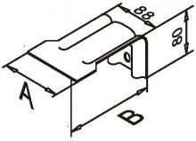 Анкерный кронштейн усиленный оцинк.2,0мм 90*105*80 с 2-мя отв.10мм