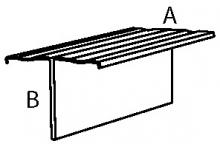 Крепёжный профиль Т-образный оцинк.1,2мм, 65*30