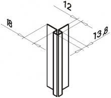 Планка внешнего угла оцинк.0,5мм