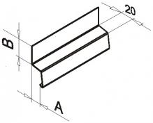 Планка горизонтального шва оцинк.0,5мм