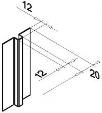 Планка вертикального шва оцинк.0,5мм
