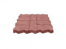 Тротуарная плитка Змейка (60мм) М200 коричневая