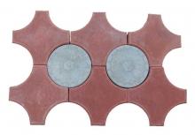 Тротуарная плитка КРЕСТ-3Ф9.8 Ш, Д коричневая