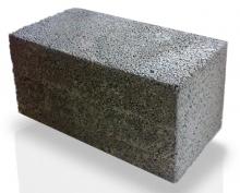 Стеновые камни цементные лицевые, сплошные 2ЛС39.10.9,5 (М200) серый