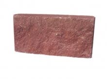 Стеновые камни цементные лицевые, сплошные КСЛ39.9,5.18,8 коричневый