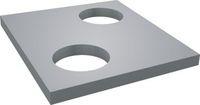 Плиты перекрытия теплокамер ПО-2-отв d700