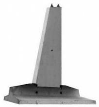 Стойки для составных фундаментов стальных опор К4,6-4