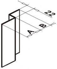 Крепёжный профиль Z-образный оцинк.1,2мм, 20*22*40